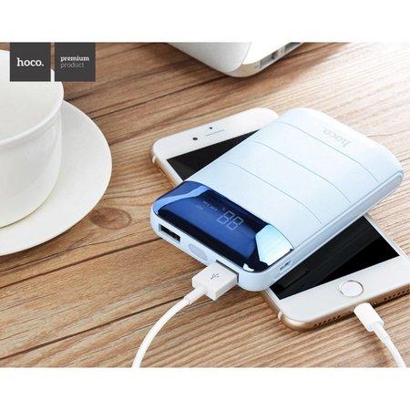 HOCO HOCO Domon Powerbank Dual USB 10000 mAh - Wit / Blauw