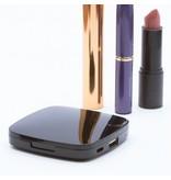 Make-up Spiegel Powerbank 5500 mAh - Zwart