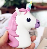 Unicorn Emoji Powerbank 3600 mAh - Wit / Roze