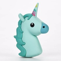 Unicorn Emoji Powerbank 3600 mAh - Groen