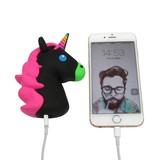 Unicorn Emoji Powerbank 3600 mAh - Zwart / Roze