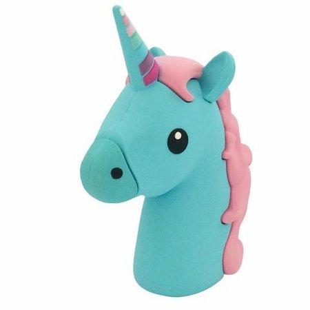 Unicorn Emoji Powerbank 3600 mAh - Blauw / Roze