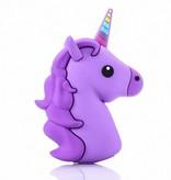Unicorn Emoji Powerbank 3600 mAh - Paars