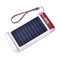 Solar Powerbank 5500 mAh - Roze