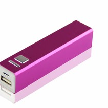 Mini Powerbank 2600 mAh - Roze