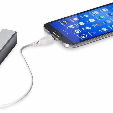 Mini Powerbank 2600 mAh - Zilver