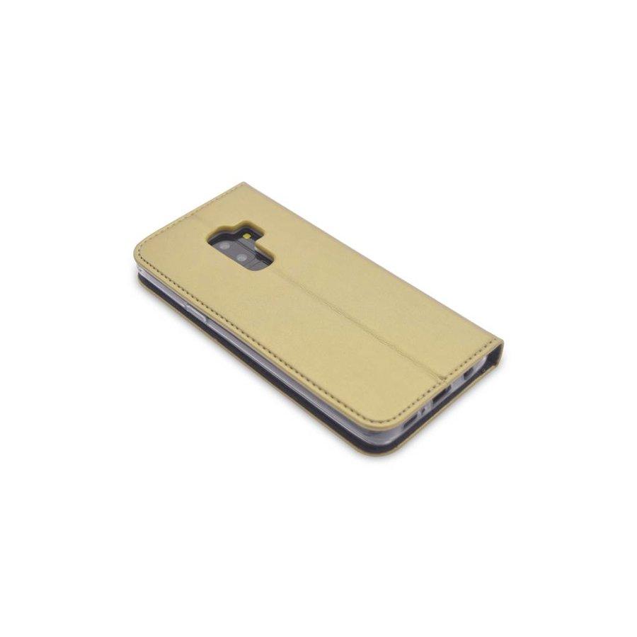 TPU Bookcase Voor Galaxy S9 Plus (Goud)