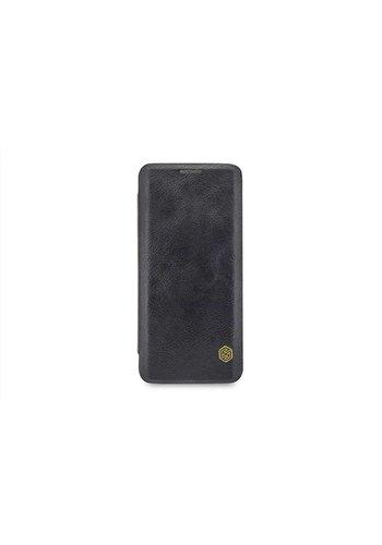 Nillkin Qin Leren Bookcase Zwart Samsung Galaxy S9 Plus