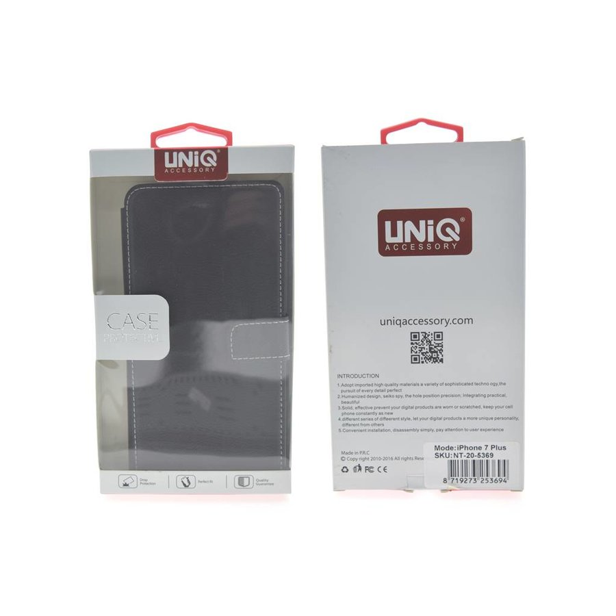 UNIQ Bookcase Zwart voor iPhone 7 Plus