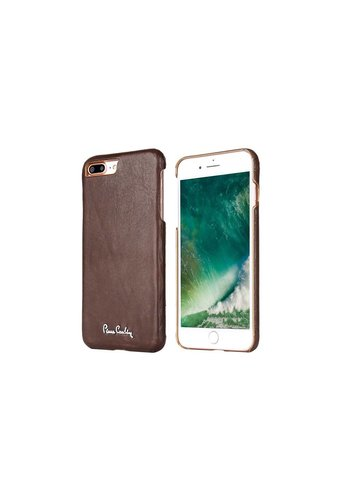 Pierre Cardin Leren Backcase Bruin iPhone 7/8 Plus