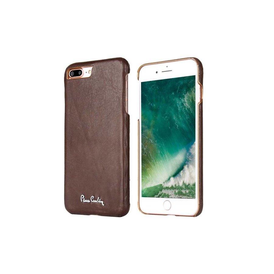 Pierre Cardin Leren Backcase Bruin voor iPhone 7/8 Plus