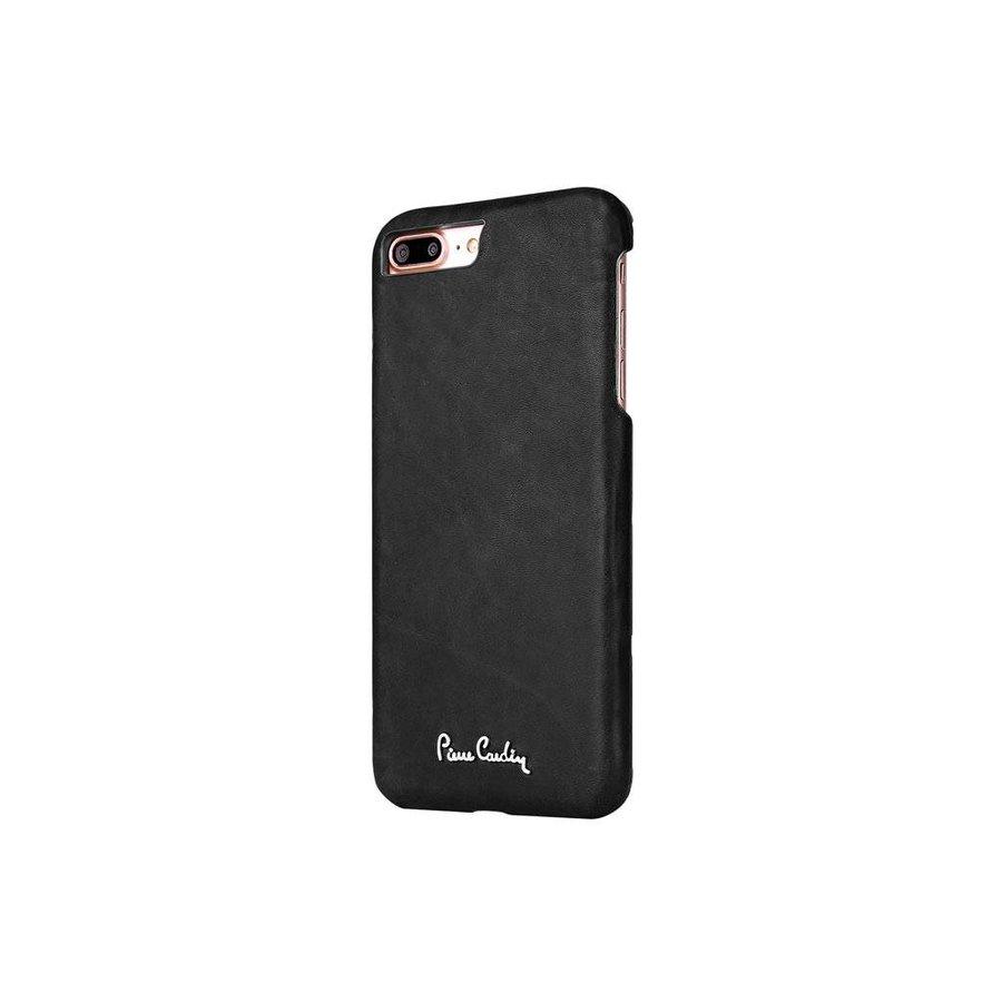Pierre Cardin Leren Backcase Zwart voor iPhone 7/8 Plus