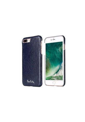 Pierre Cardin Leren Backcase Blauw iPhone 7/8 Plus