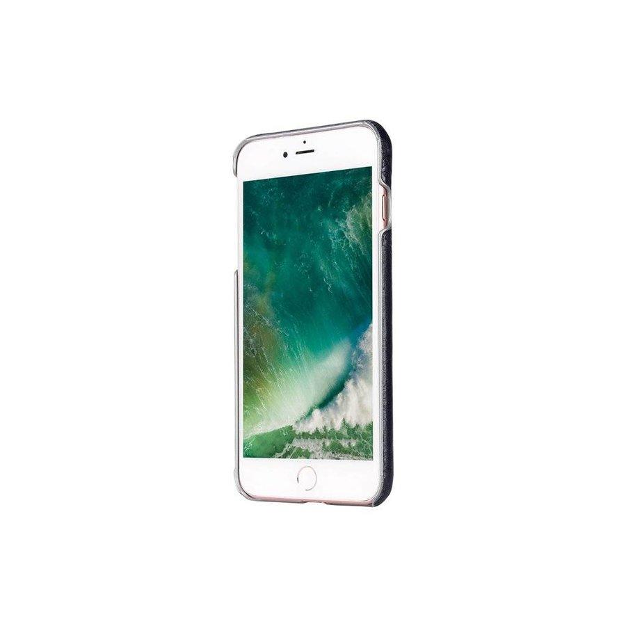 Pierre Cardin Leren Backcase Blauw voor iPhone 7/8 Plus
