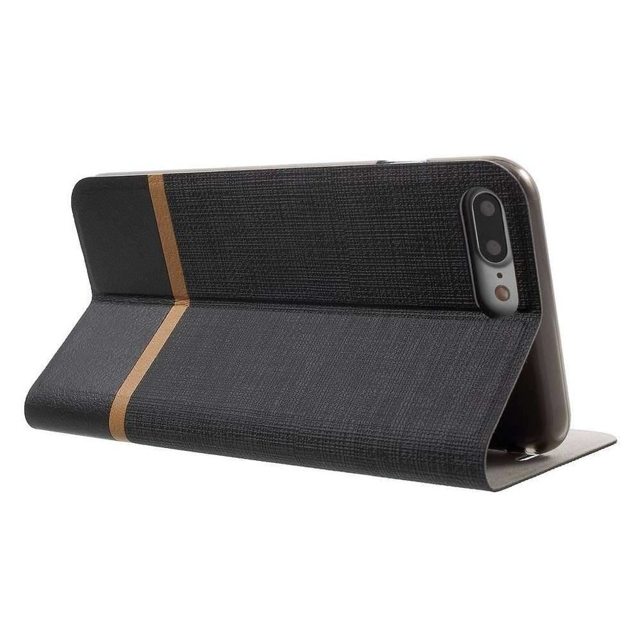 Just in Case Bookcase Striped Black voor iPhone 7/8 Plus