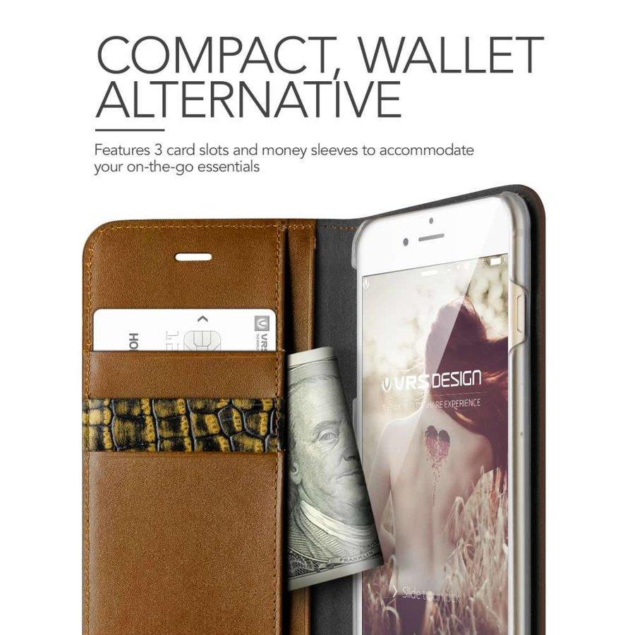 VRS Design Bookcase Krokodillenleer Bruin voor iPhone 7/8 Plus