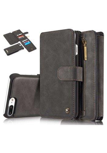 CASEME Retro Walletcase Zwart iPhone 7/8 Plus