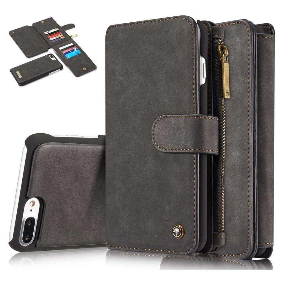 CASEME Retro Walletcase Zwart voor iPhone 7/8 Plus