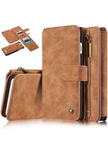 CASEME Retro Walletcase Bruin iPhone 7/8 Plus