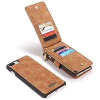 CASEME Retro Walletcase Bruin voor iPhone 7/8 Plus