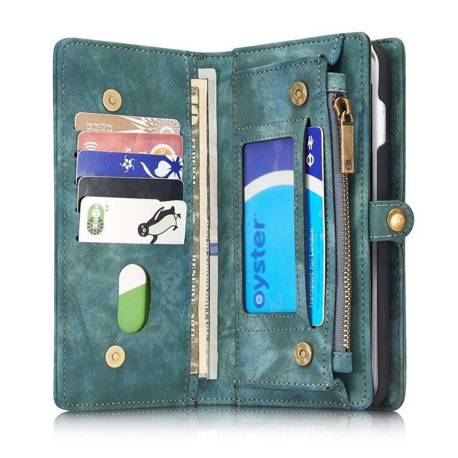 CASEME Retro Walletcase Groen voor iPhone 7/8 Plus