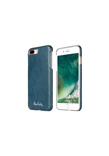 Pierre Cardin Leren Backcase Sapphire Blauw iPhone 7/8 Plus