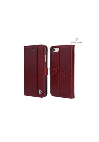 Pierre Cardin Leren Bookcase Rood iPhone 7/8