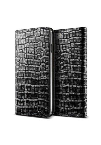 VRS Design Bookcase Krokodillenleer Zwart iPhone 7/8