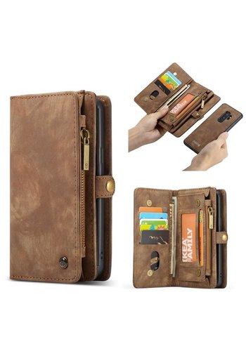 CASEME Bookcase Bruin Samsung Galaxy S9 Plus
