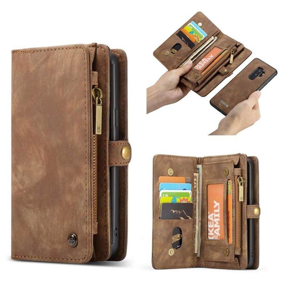 CASEME Bookcase Bruin voor Samsung Galaxy S9 Plus