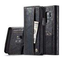 CASEME Bookcase Zwart voor Samsung Galaxy S9 Plus