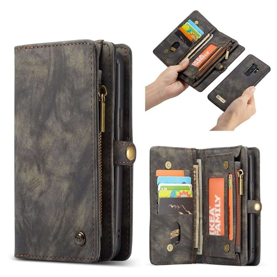 CASEME Bookcase Grijs voor Samsung Galaxy S9 Plus
