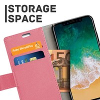 Just in Case Bookcase Roze voor de iPhone X