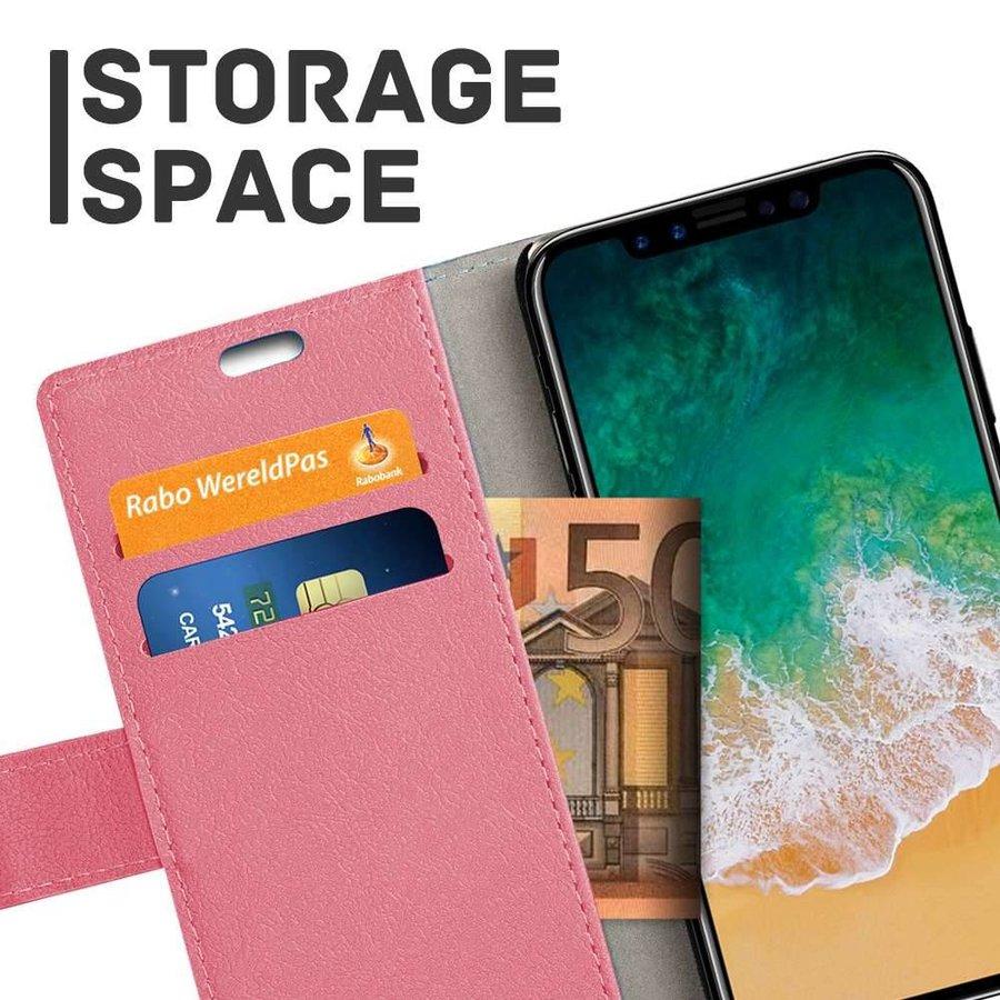 Just in Case Bookcase Roze voor de iPhone X