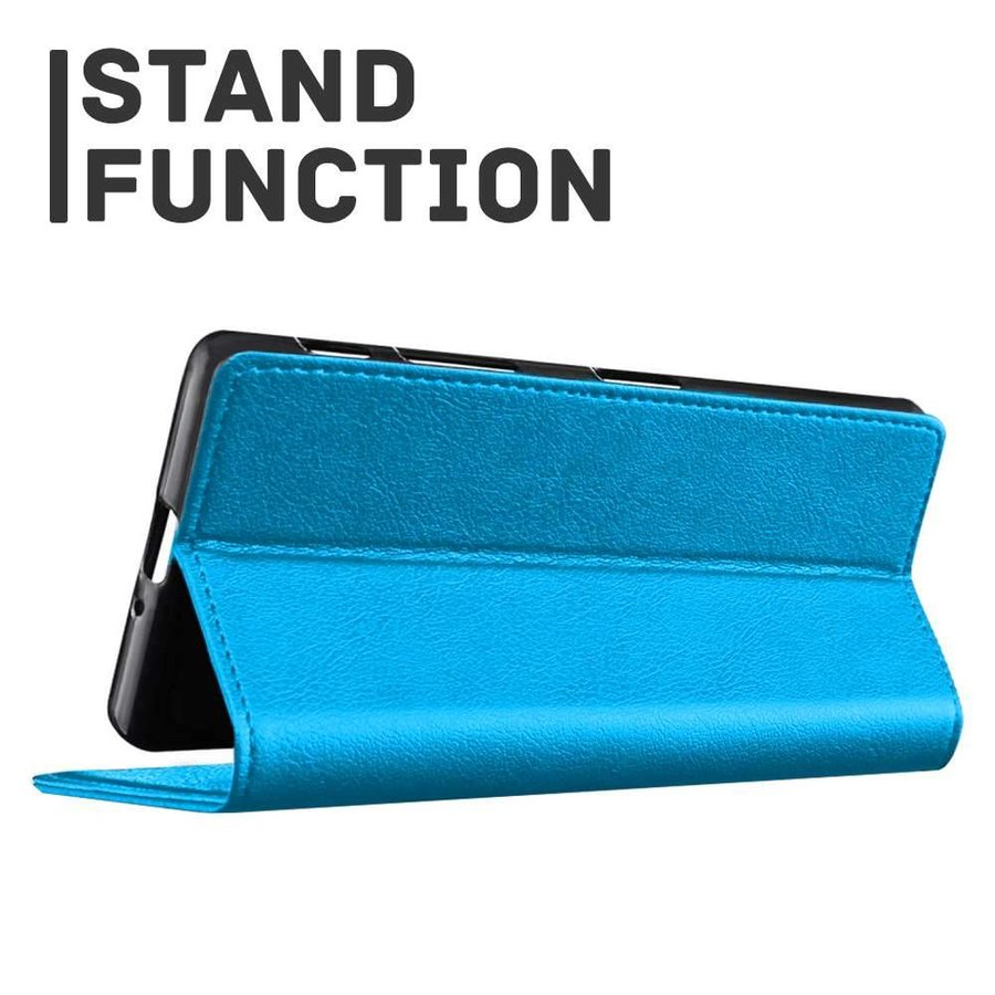 Just in Case Bookcase Blauw voor de iPhone X