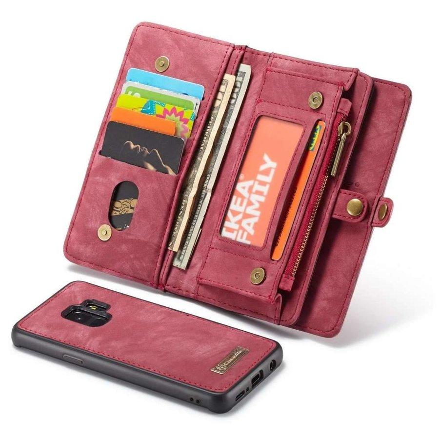 CASEME Retro Walletcase Rood voor Samsung Galaxy S9