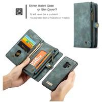 CASEME Retro Walletcase Groen voor Samsung Galaxy S9