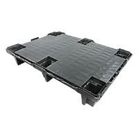 Palette en plastique légère dimensions 800x600x130mm - plancher plein