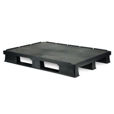Palette plastique plancher plein 1200x800 avec des rebords de sécurité