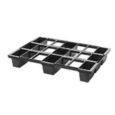 Demi-palette emboîtable de dimensions 800x600x120mm, équipée de 9 plots