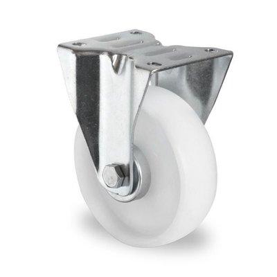 Roulette fixe de diamètre 125 mm - PA blanc
