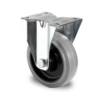 Roulette fixe 125mm de diamètre avec roulement à billes - PA / Caoutchouc