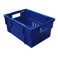 Bac plastique empilable bleu de dimensions 400x300mm