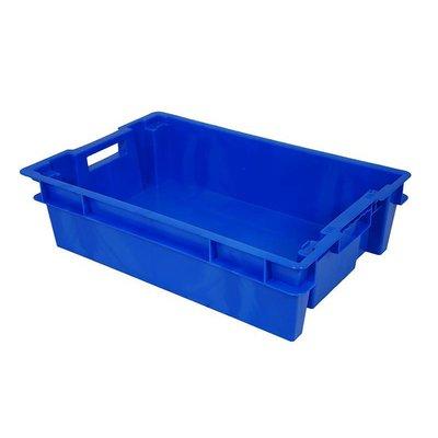Bac plastique empilable 600x400x150mm, plein