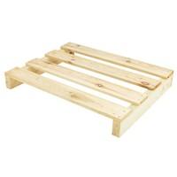 Demi-Palette en bois 2 entrées, dimensions 800x600 mm