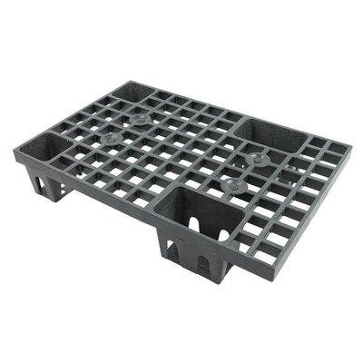 1/4 palette plastique emboîtable dimensions 600x400x120mm