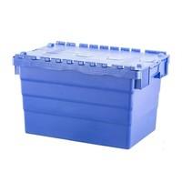 Bac de stockage en plastique avec couvercle, empilable 600x400x365mm