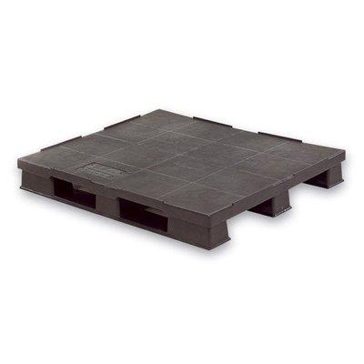 Palette plastique, plancher plein 1200x1000x150mm, empilable