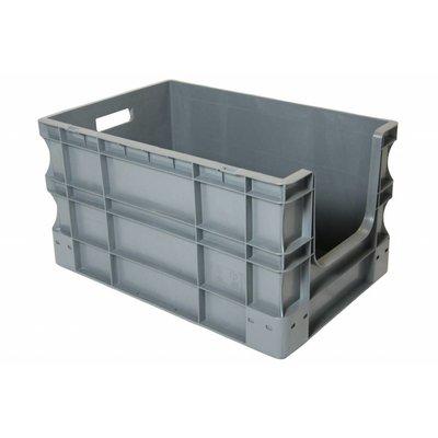Bac plastique Euronorm 600x400x330mm, équipé de poignées ouvertes