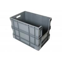 Bac Europe plastique 600x400x430mm, poignées ouvertes